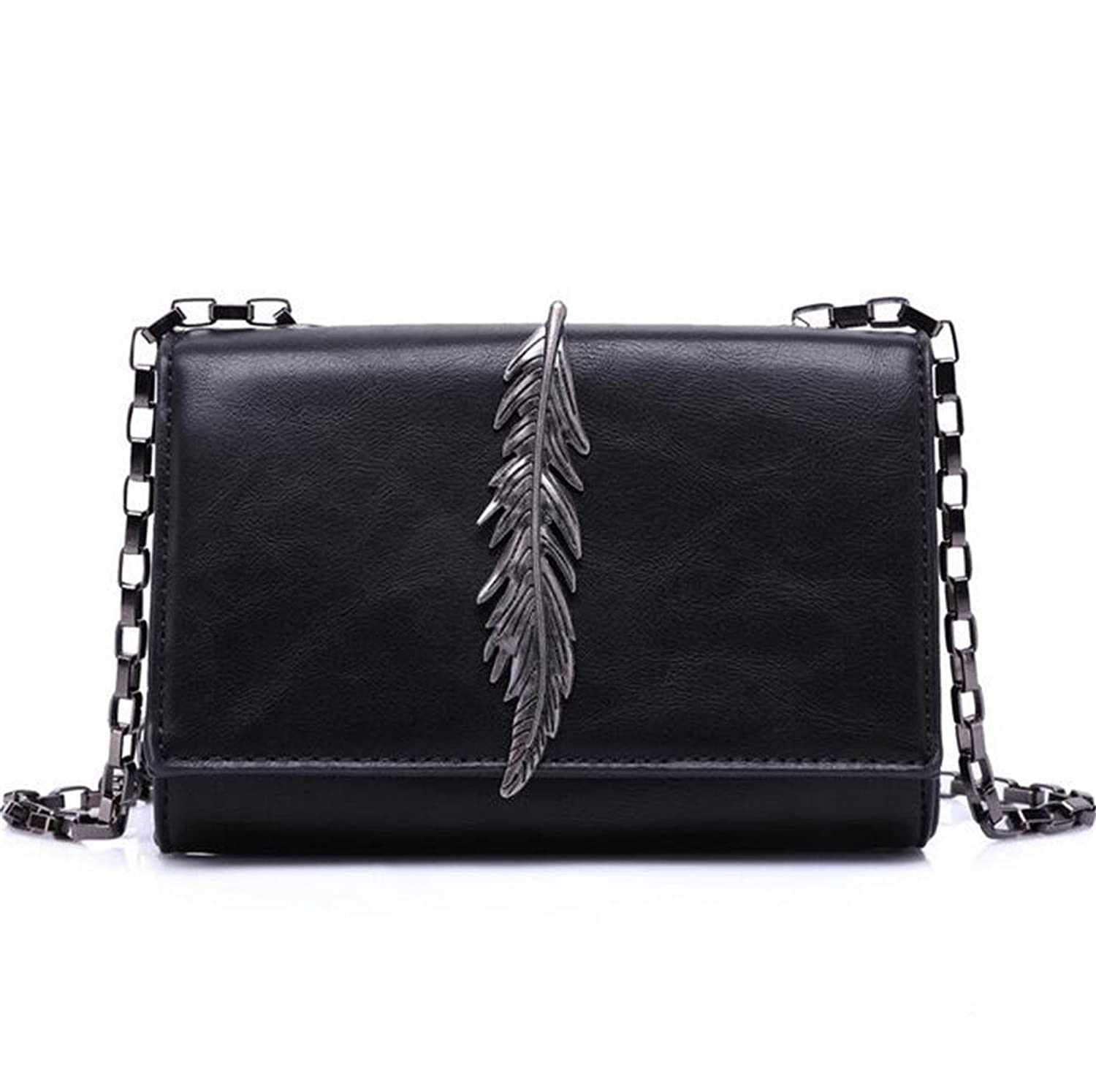 G.T.D 2016 New Leaves Decorative Handbags Wild Shoulder Messenger Bag European and American Retro Chain Clutch Bag Small Square