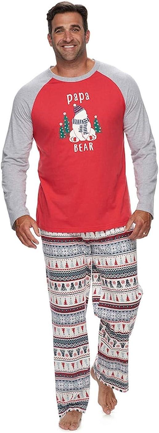 SIMYJOY Family Christmas Pyjamas Set Parents-Child Sleepsuits Cotton Sleepwear Top and Pants One Piece Pajamas for Baby