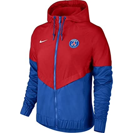 13b2f22a802a Amazon.com  Nike PSG Windrunner Womens Jacket 2018 2019 - Red Blue ...