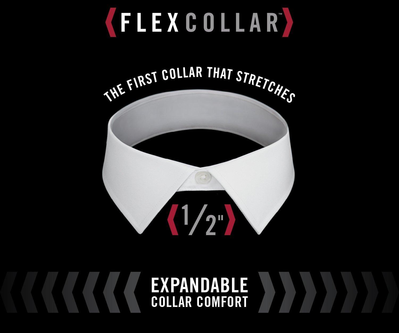 Van Heusen Men's Flex Collar Regular Fit Solid Spread Collar Dress Shirt, White, 16.5'' Neck 32''-33'' Sleeve by Van Heusen (Image #6)