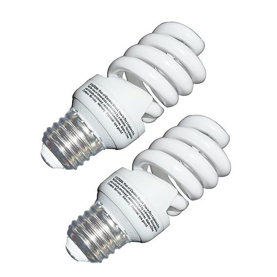 13 Watt CFL Light Bulbs (60 Watt) Soft White 2700K 1040LM Spiral Bulb Medium Base Compact Fluorescent Bulb (2 Pack) - - Amazon.com