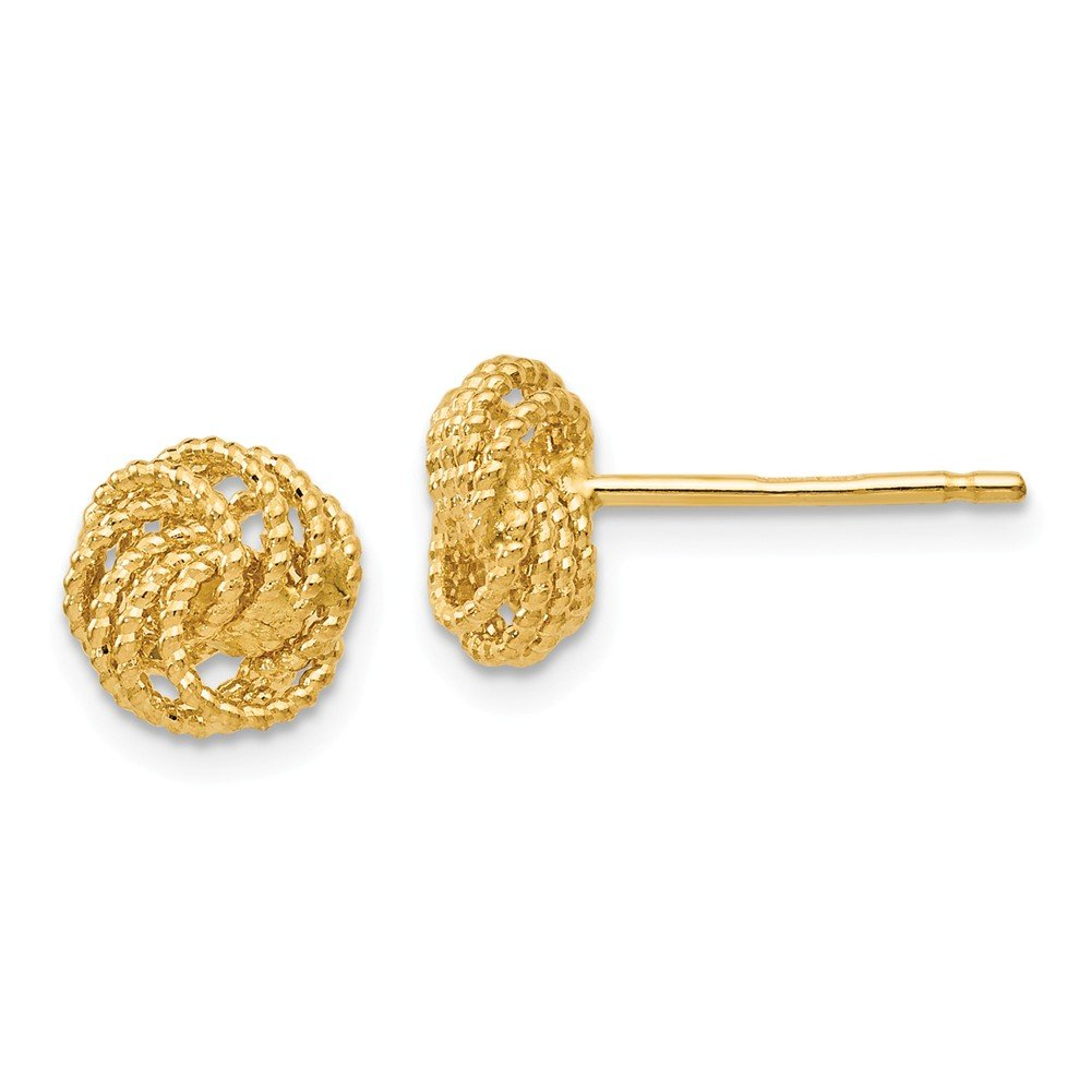 Jewelry Best Seller Leslies 14k Textured Love Knot Post Earrings by Jewelry Brothers Earrings (Image #1)