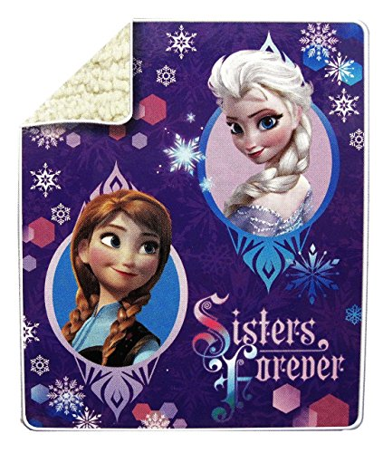 Disney's Frozen Anna & Elsa Microvelvet Sherpa Throw 40