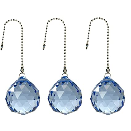 Magnificent crystal 40mm Clear Crystal Ball Prism 2 Pieces Dazzling Crystal