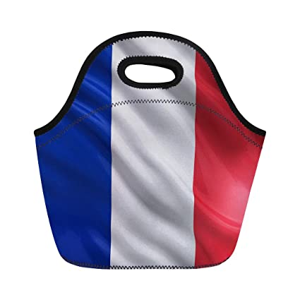 80c2ba14b230 Amazon.com: Semtomn Lunch Tote Bag French Flag of France Waving in ...