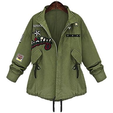 Autumn Winter Women Military Jacket Basic Coat Army Green Chaquetas
