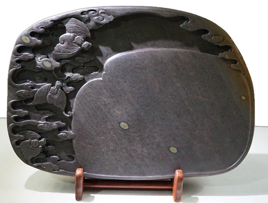 Chinese Zhaoqing Duan Yan Fuxinggaozhao Meihua Keng Large Size Ink Stone 39x27x5cm Inkstone Natural Stone Eye