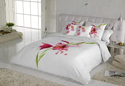 COTTON ART   funda Nordica Modelo LIRIOS cama de 180 ( 260 x260 cm