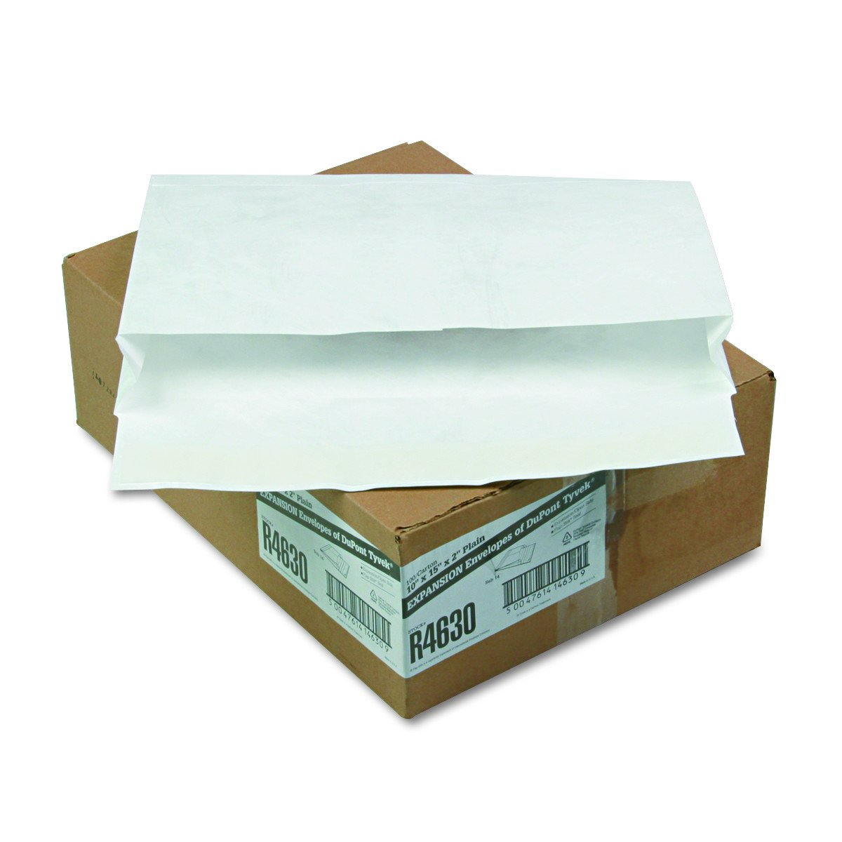 Quality Park Tyvek Open Side Expansion Envelopes, 10 x 15, White, 100 per Carton (R4630)