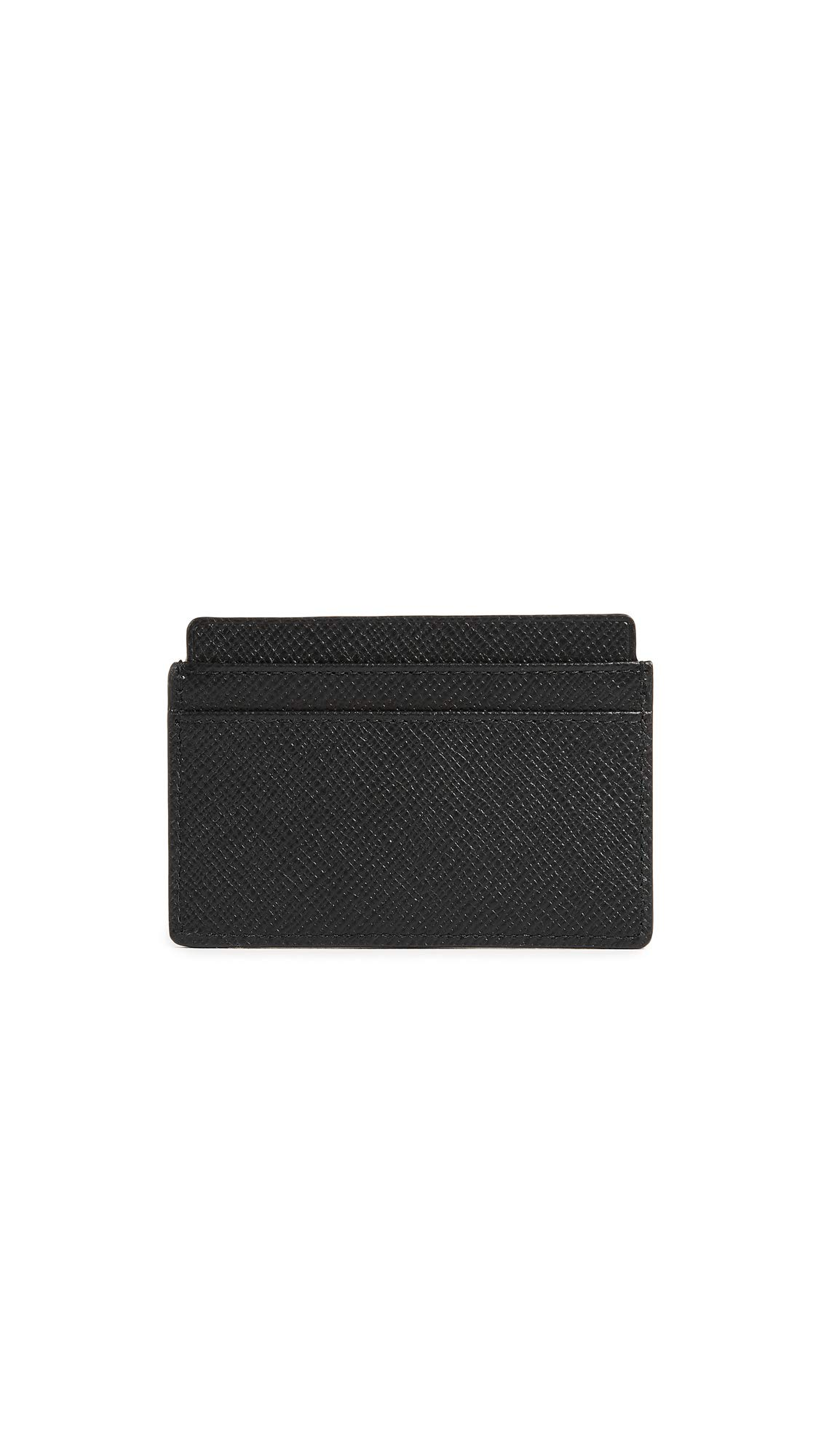 Smythson Women's Panama Flat Card Holder, Black, One Size