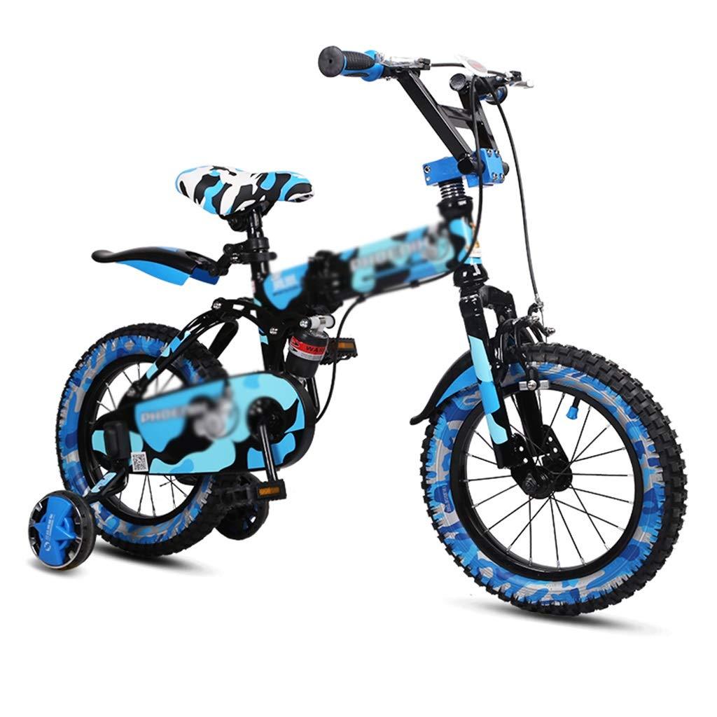 キッズ自転車 学生 自転車 男の子 自転車 女の子 自転車 14インチ 16インチ 高炭素鋼フレーム 補助タイヤ付き 14inches ブルー B07J6RMYC3  ブルー 14inches