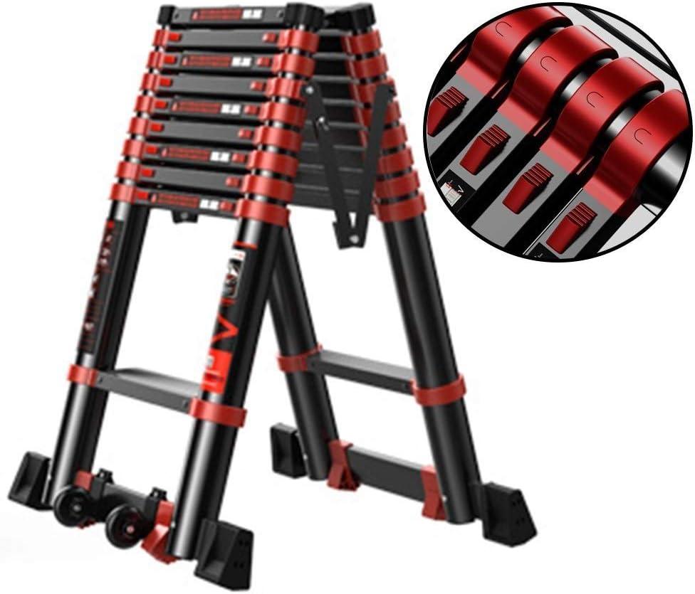 WYNZYYX Escalera Telescópica: Escalera Plegable De Aluminio con Marco En A De Varias Posiciones For Escaleras/Altillo/Tienda De Techo/Caravana, Soporte 150 Kg (Size : 3.9+3.9m): Amazon.es: Hogar