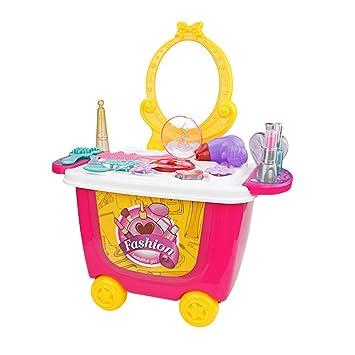 Vosarea Carrito de Juegos en Forma de Tocador para Niños Juguetes de Aprendizaje (Supermercado): Amazon.es: Hogar