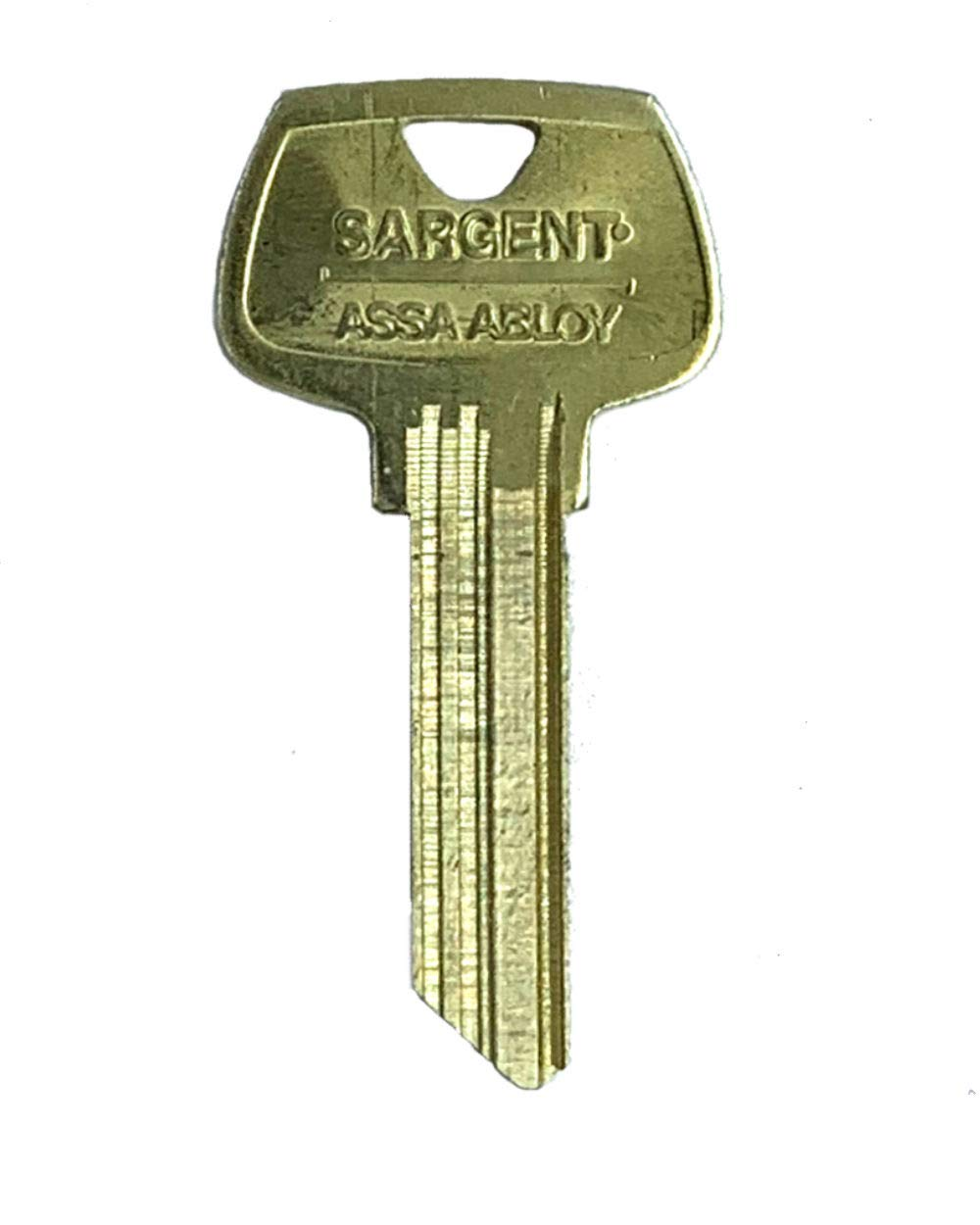 Sargent 6 Pin Key Blank 6275 HF Keyway, Pkg of 10, Factory Original