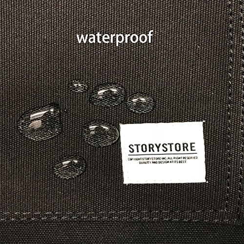 Work Apron For Men & Women - Heavy Duty waterproof Canvas - Multiple Tools Pockets - Adjustable Unisex Sizing - For Woodworking, Painting, Crafting, Cooking & Bartenders (black) by Storystore (Image #4)