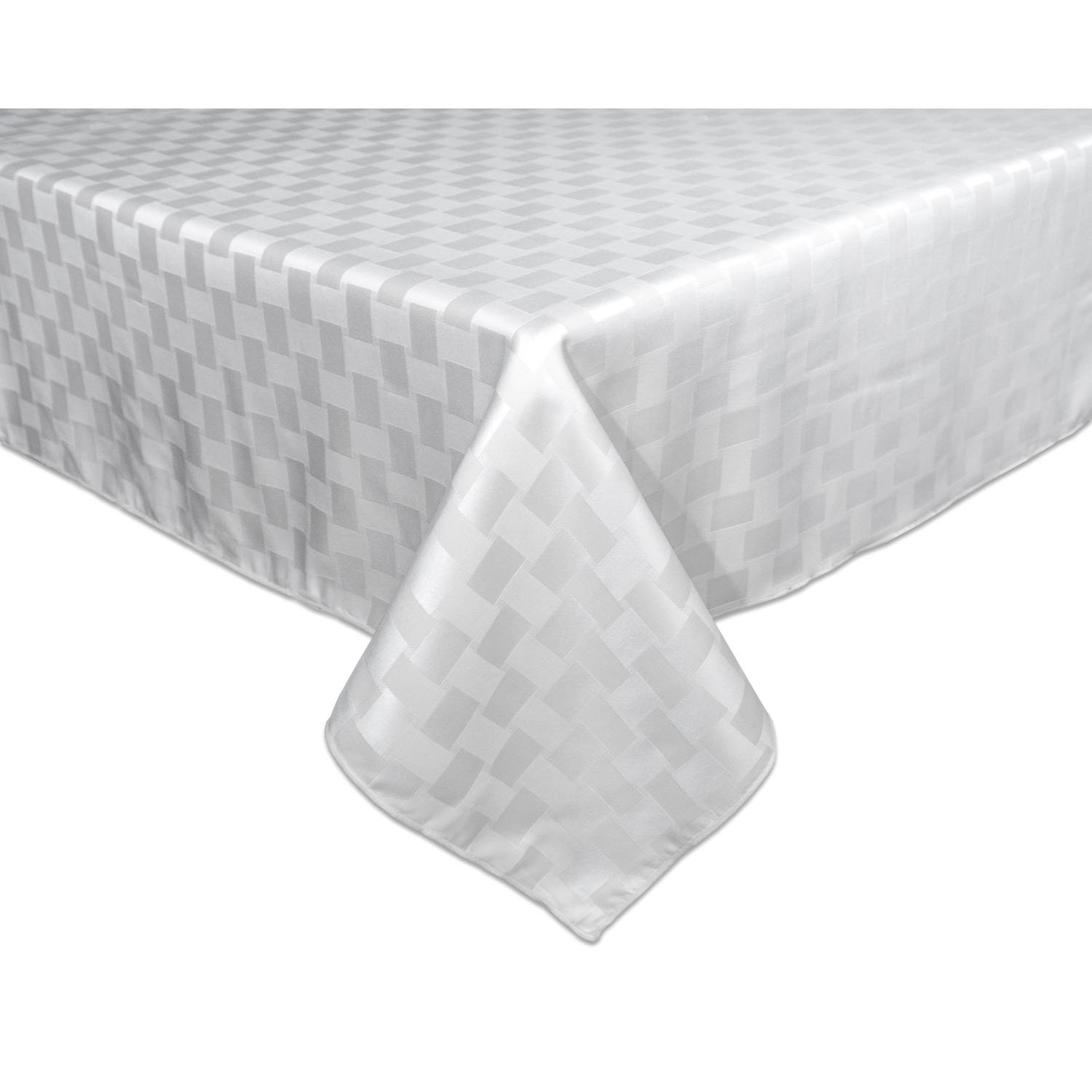 Amazon.com: Bardwil Reflections Spill Proof Oblong / Rectangle Tablecloth,  60 Inch X 120 Inch, White: Home U0026 Kitchen
