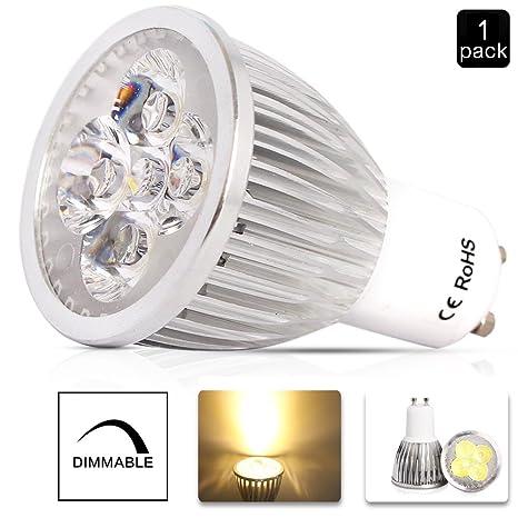 ELINKUME de bajo consumo Bombillas GU10 6 W DIMMABLE bombillas LED coche en aluminio lámpara blanco