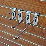 40 Chrome Assorted Slatwall Metal Hooks, Multi Size Hook Bundle - 2'', 4'', 6'' & 8'' - 10 Each