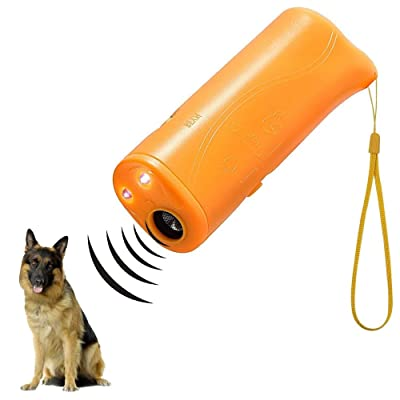 AccMart LED Ultrasonic Dog Repeller and Trainer Device 3 in 1 Anti Barking Stop Bark Handheld Dog Training Device
