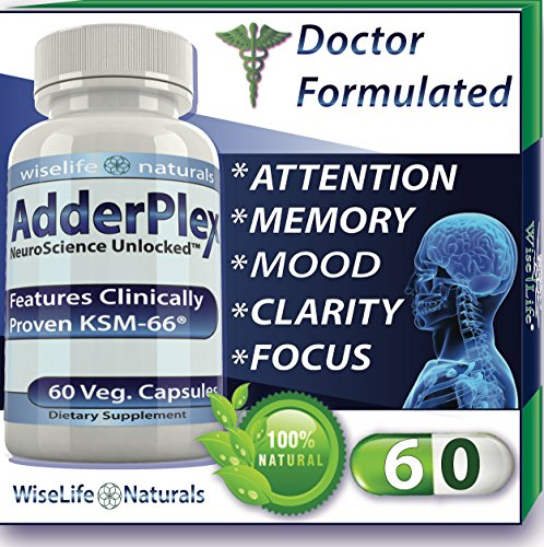 AdderPlex Best Organic Focus Energy Add Attention Boost Mood...