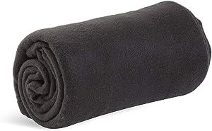 World's Best Cozy-Soft Microfleece Travel Blanket, 50 x 60 Inch, Black