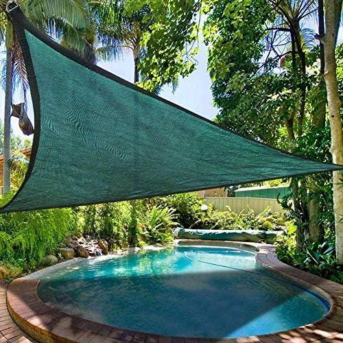 LSXIAO 12'x12' サンシェイドセイル長方形キャノピーセイルサンシェードUVブロック、広範囲に使用されている以上のAパティオ、芝生、庭園、プール、池、デッキ、Kailyard (Color : Green 11.5'x11.5'x11.5')