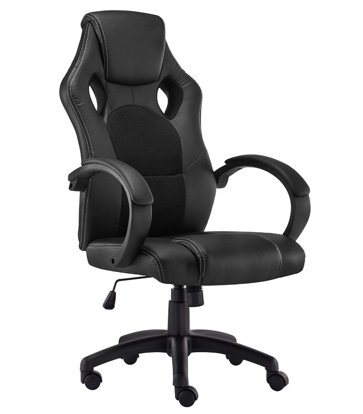 Gaming Chair Racing Style Office Swivel Computer Desk Chair Ergonomic Conference Chair Work Chair with Lumbar Support PU Leatherwith Adjustable Task Chair ,Gas lift SGS tested play haha Yellow