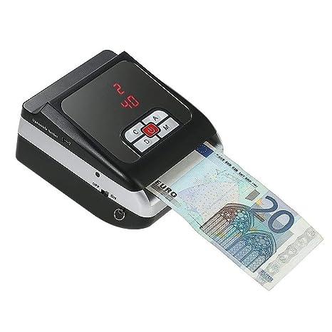 tradeshoptraesio® – Mini detector billetes falsos verifica cuenta billetes a batería litio