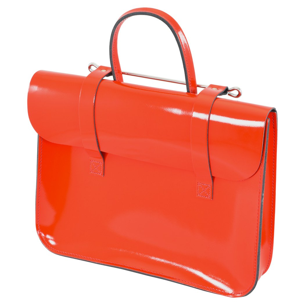Oxford Traditional Leather MC1-RP Traditional Classic Leather Music Case, Red Patent