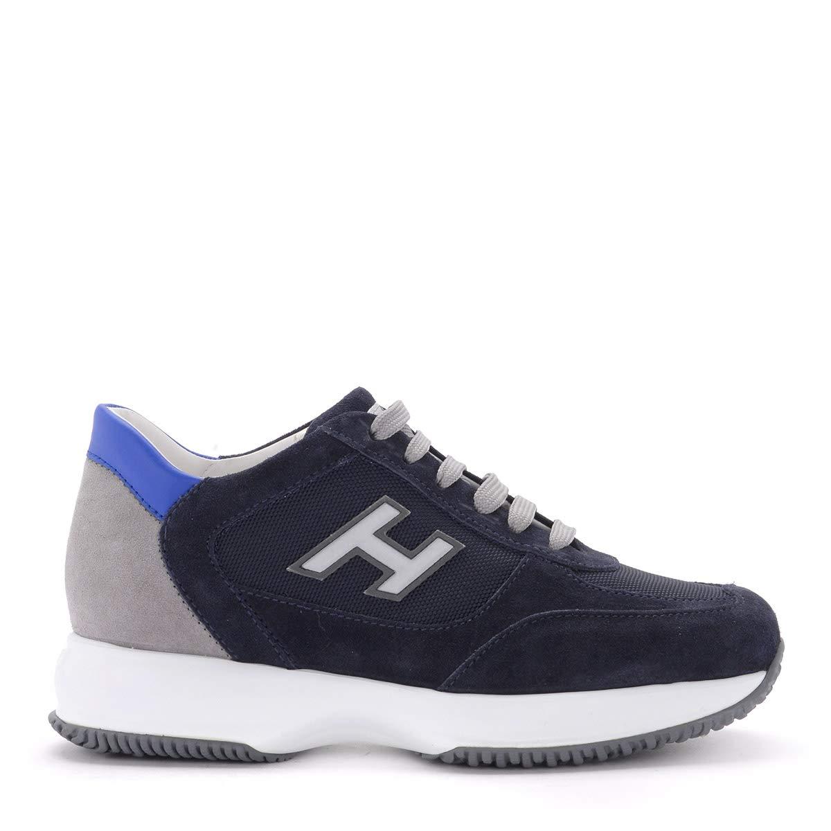 blå blå blå Hogan Interactive blå och grå mocka skor, Storlek UK   uppkopplad