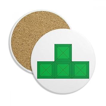 Amazon.de: Classic Spiele Tetris grün Block Keramik Untersetzer ...