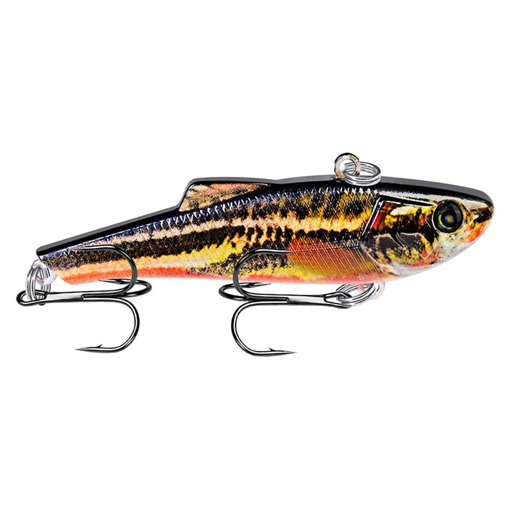 HighlifeS Fishing Bait Newest Artificial Fake Fish Bait More Colors Fishing Lure Bait Bionic Fishing Gear 1Pc (E)