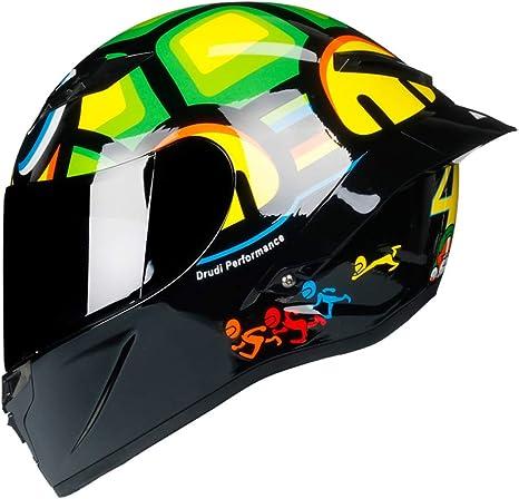 Amazon.com: Woljay Casco de motocicleta de cara completa ...