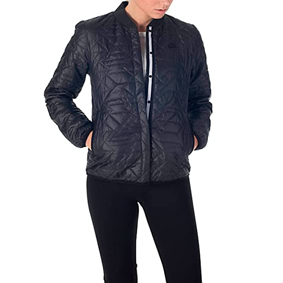 06ede0b61e777 Nike Womens Quilted Black Insulated Primaloft Jacket 854747 010 (XL): Amazon .co.uk: Clothing