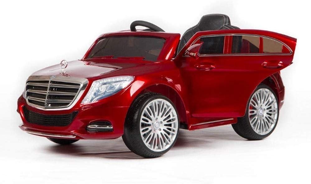 Kinder Elektroauto Mercedes S-Klasse ZP8003 Ledersitz 2X 25W MP3 Farbe:rot Eva-Reifen