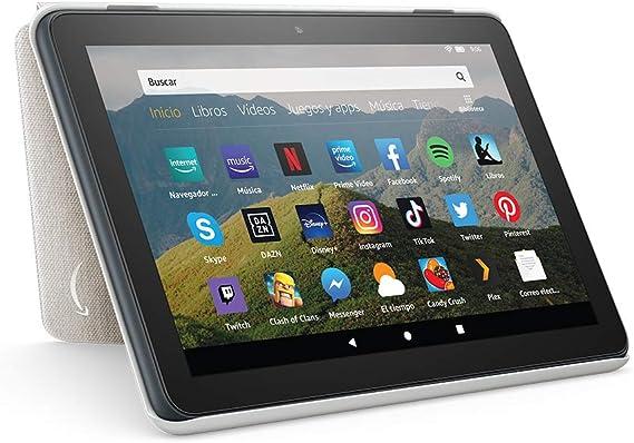 Image ofAmazon Funda para tablet Fire HD 8 (compatible con el tablet de 10.ª generación, modelo de 2020), gris claro