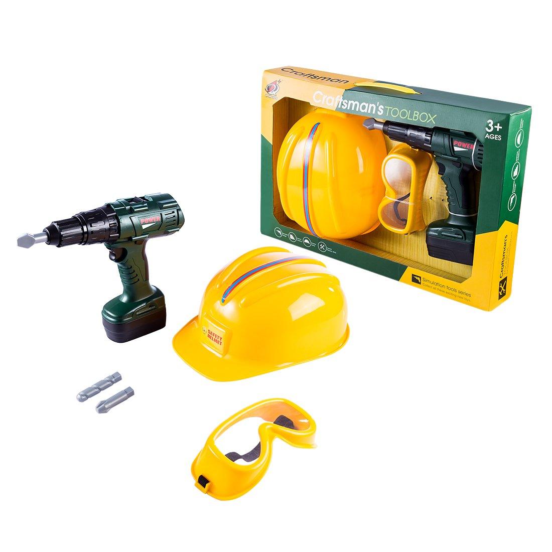MRKE Spielwerkzeug, Werkzeugkoffer Kinder ab 3 Jahre, Werkzeug Koffer für Jungen