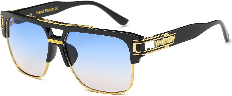 Allt Square Aviator Large Fashion Sunglasses For Men Women Goggle Alloy Frame Glasses