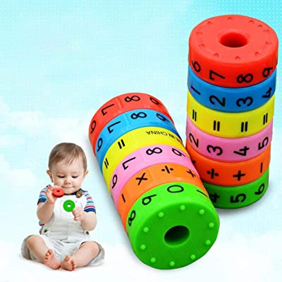 Blenko Kid's Math Toy Numbers Symbols Learning Toys for Child Colorful Magnetism Arithmetic Educational Toy: Toys & Games