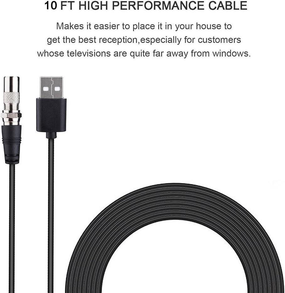 Antena Interior TV, Utaish 80KM 1080P HD Digital Antena de TV Portátil 4M Cable Alto Rendimiento y Amplificador de Señal Removible USB para Reforzar las Frecuencias UHF VHF: Amazon.es: Electrónica