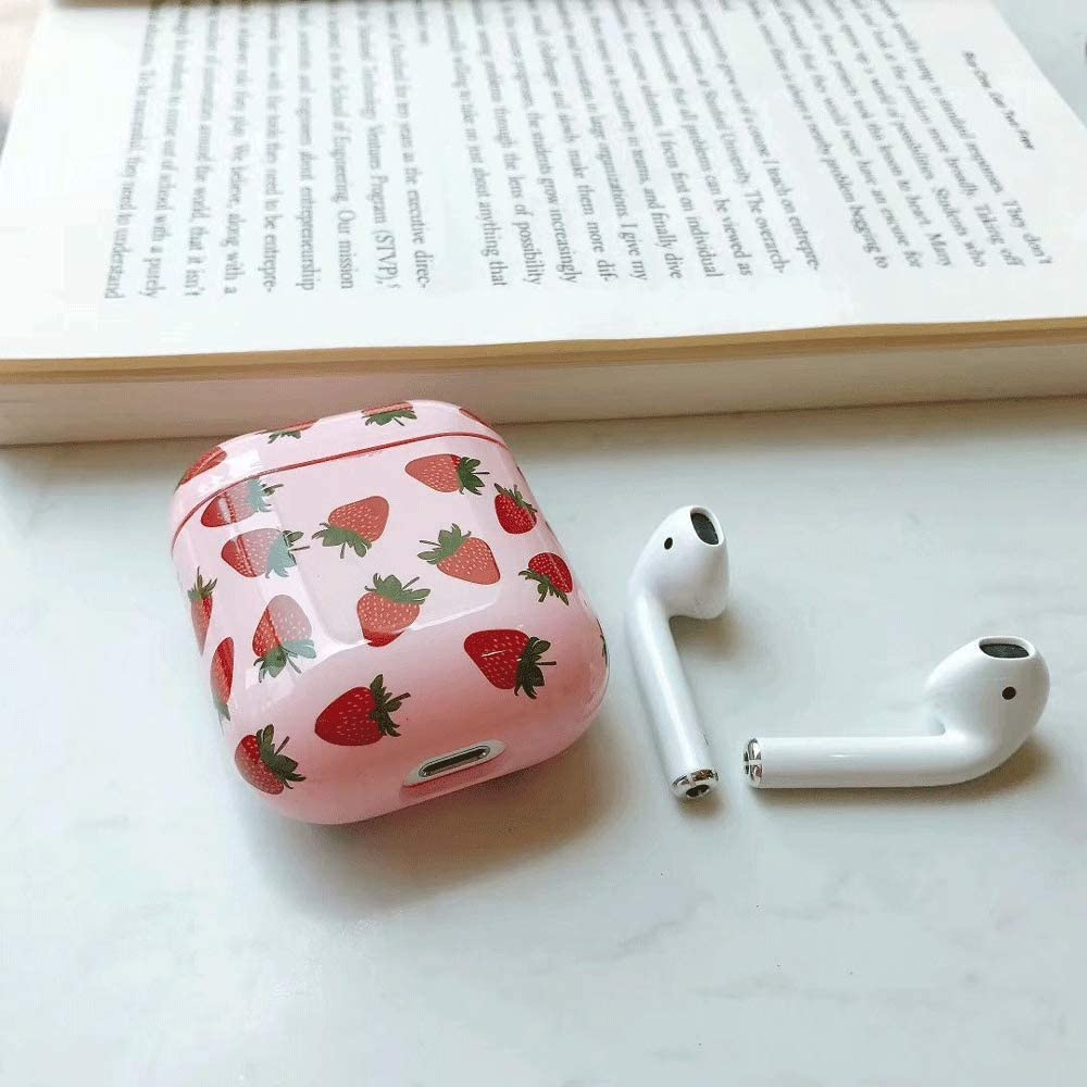 Hi-Yoohere Creative Cute Fresh Cherry Lemon Airpods Case Sweet Fruits Carrying AirPods Accessories Hard Plastic Shockproof Protective Case