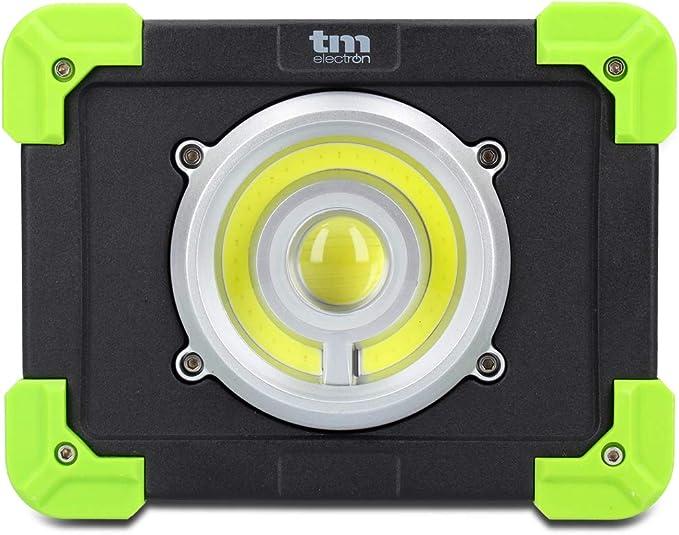 TM Electron TMTOR020 luz portátil de Trabajo COB LED súper Brillante de 20W y powerbank de 4000mAh: Amazon.es: Bricolaje y herramientas