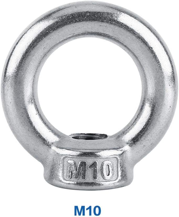 Wandisy 1pc Stainless Steel SS304 Lifting Eye Nuts Fastener M6-M16 DIN582 for Cable Rope M8