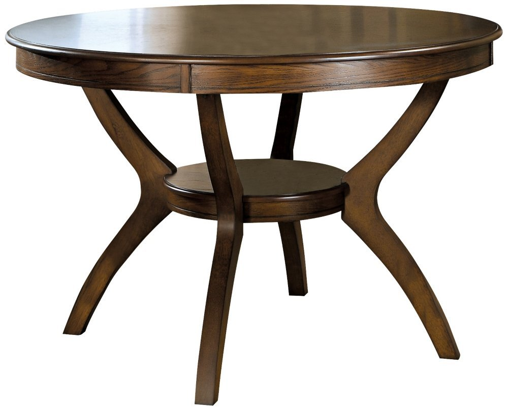 Amazon.com   Coaster Home Furnishings Nelms Classic Modern Transitional  Round Dining Table With Storage Shelf   Deep Brown   Tables