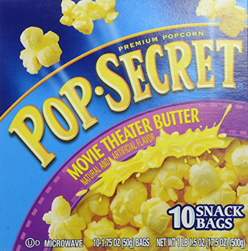 Pop Secret Snack Size Movie Theater Butter Microwavable