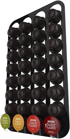 Dolce Gusto Porte Capsule Mural Pour 32 Capsules Noir Amazon Fr Cuisine Maison