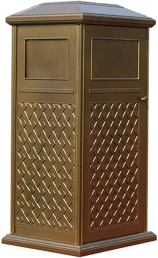 Trend-Cubo de Basura para Cocina Fabricado Lujoso cubo de basura cuadrado de aluminio fundido Villa