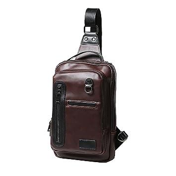 ivotre marca nueva mochila para hombre Crazy Horse piel sintética hombro Sling Bag de moda y