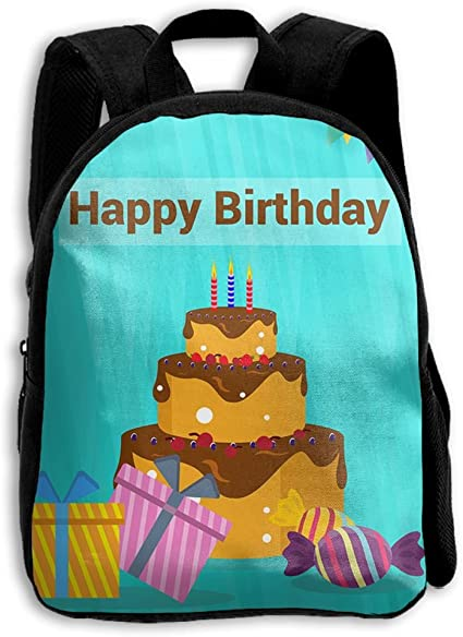 Fabulous Amazon Com Birthday Cake Unisex Full 3D Printed School Shoulder Funny Birthday Cards Online Elaedamsfinfo
