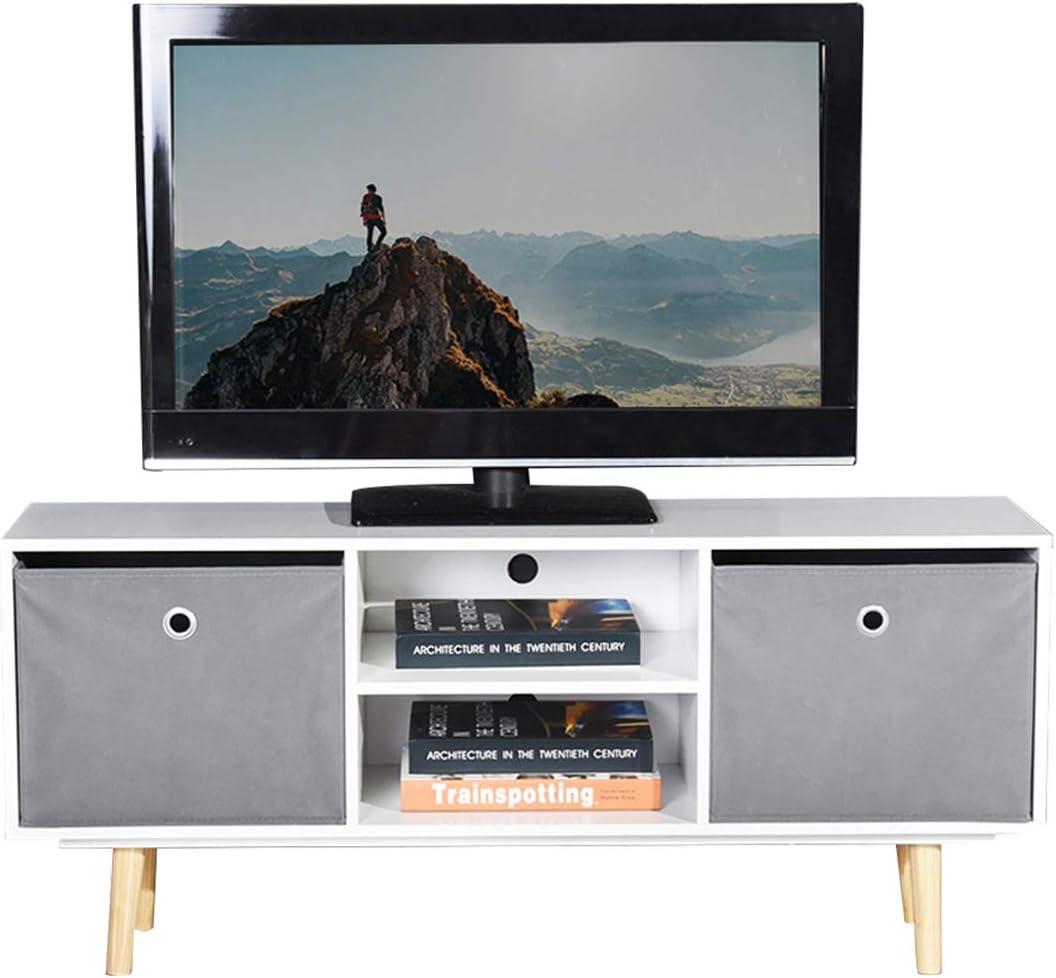 ASUUNY Unidad de TV Blanca, gabinete de TV Moderno, Unidad de TV ...